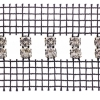 Rhinestone Banding 2 rows spaced Crystal/silver black net on both sides Brilliant SS19